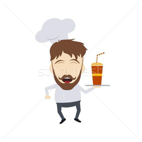 Maestro chef cartoon vettore arte Foto d'archivio © vector1st