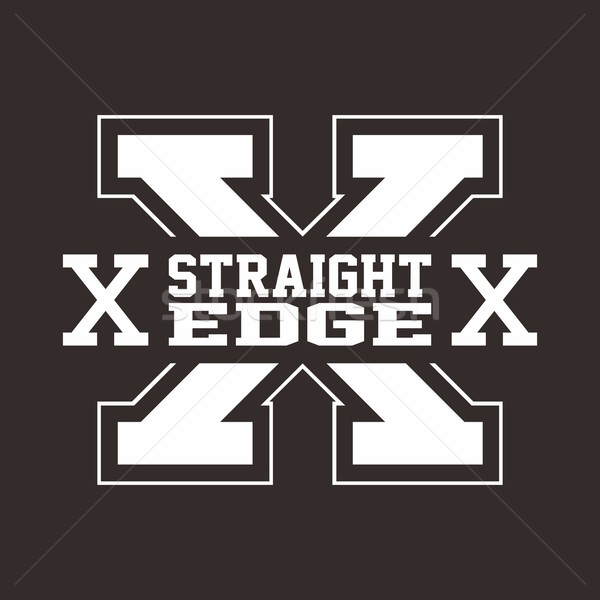 straight edge hardcore sign Stock photo © vector1st