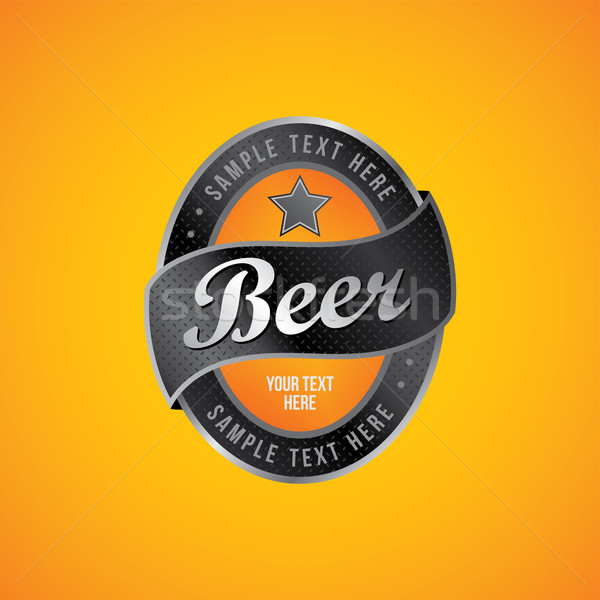 beer label theme Stock photo © vector1st