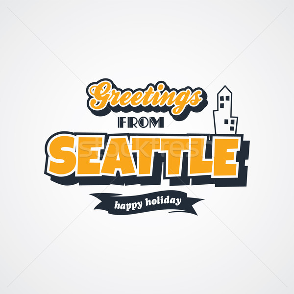 Seattle vacances vecteur art illustration Photo stock © vector1st