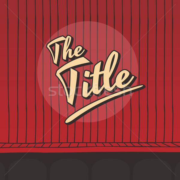 Título viver etapa vermelho cortina vetor Foto stock © vector1st