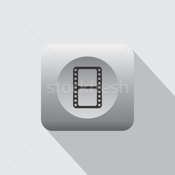 фильма икона вектора искусства графических иллюстрация Сток-фото © vector1st