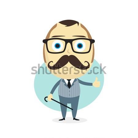 Rajz fickó avatar kép férfi hipszter Stock fotó © vector1st