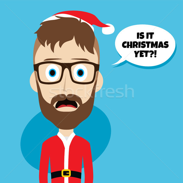 santa claus christmas skinny dad Stock photo © vector1st