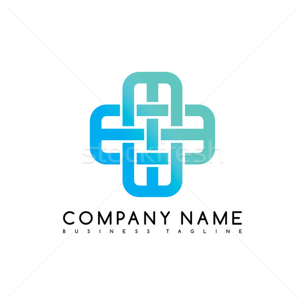 Vector Business emblem blue knot symbol curve looped icon logo logotype Stock photo © vector1st
