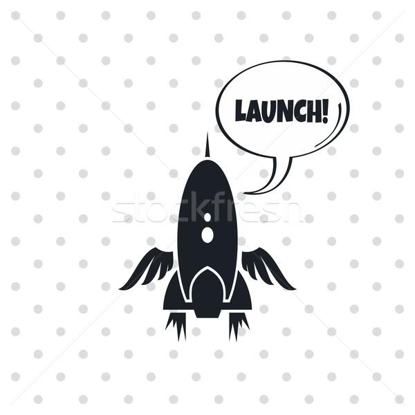Espacio cohete vector arte ilustración cielo Foto stock © vector1st
