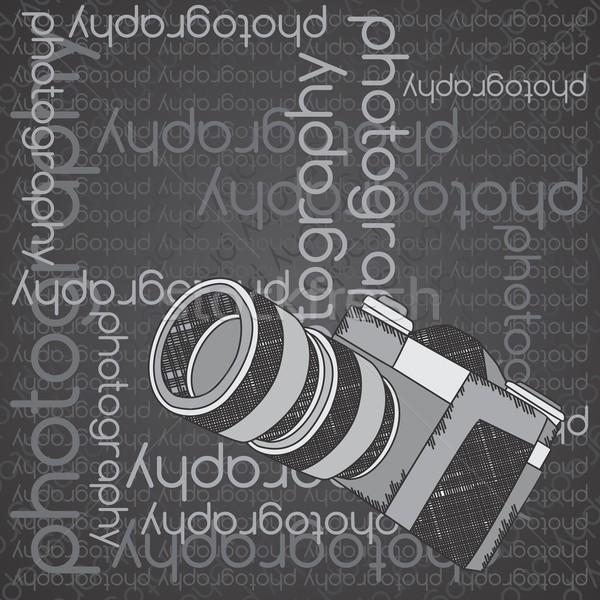 Câmera vetor gráfico arte projeto Foto stock © vector1st