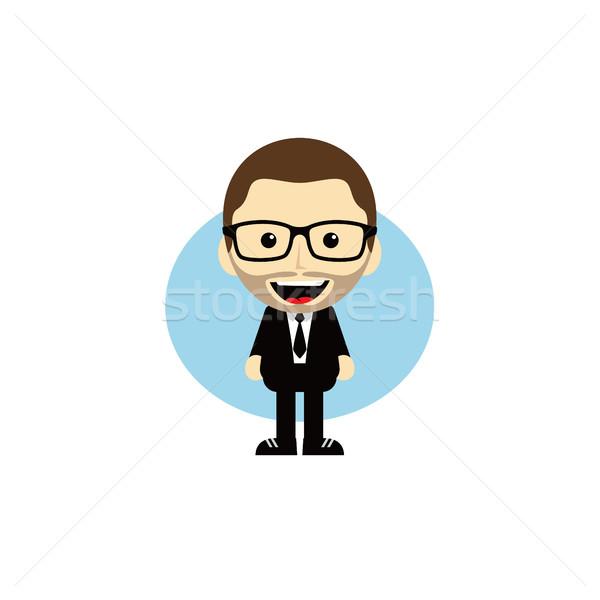 geek cartoon nerd character Stock photo © vector1st