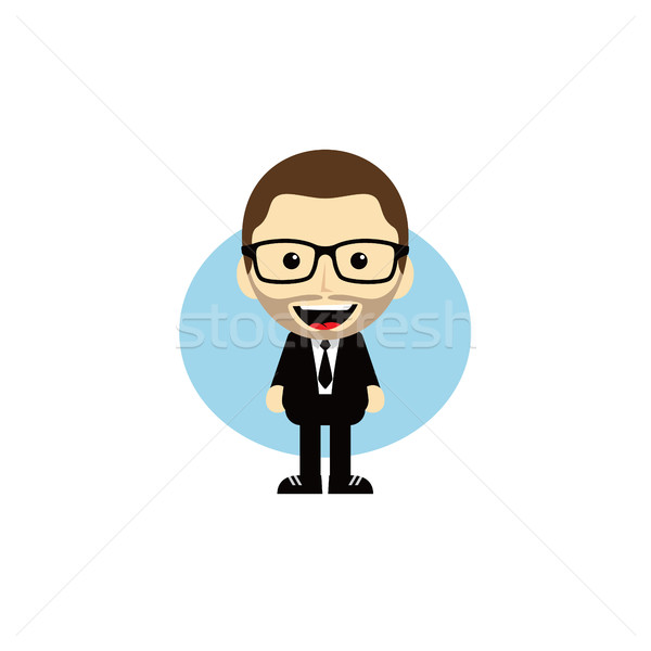 Geek cartoon nerd carattere vettore arte Foto d'archivio © vector1st