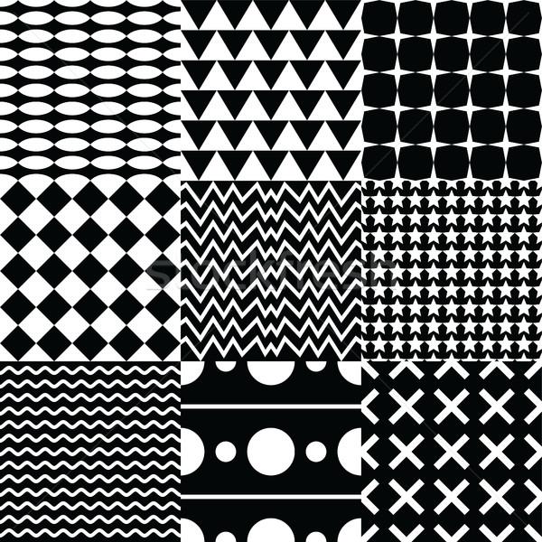 Különböző végtelen minta szett vektoros kép illusztráció terv Stock fotó © vector1st