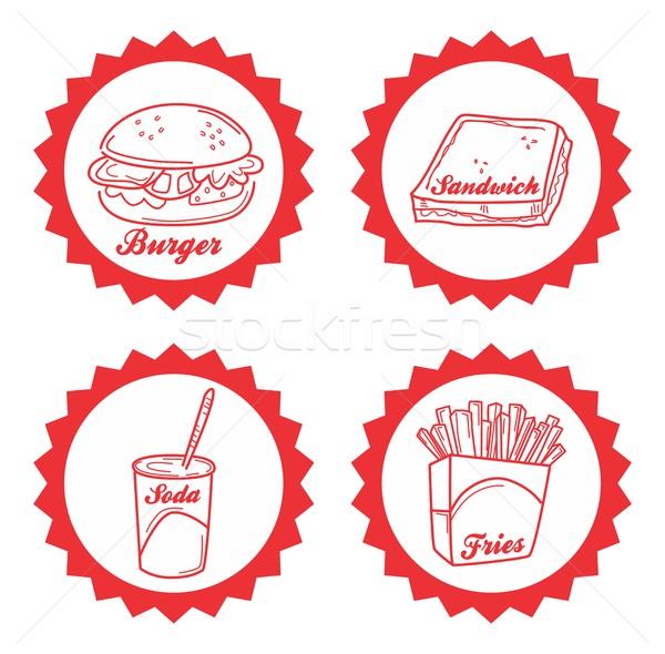 étel ital vektor grafikus művészet terv Stock fotó © vector1st