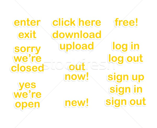 веб наклейку бумаги кнопки икона вектора Сток-фото © vector1st