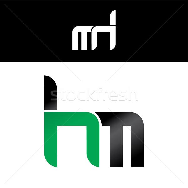 Stok fotoğraf: Mektup · logo · yeşil · siyah · dizayn · altın