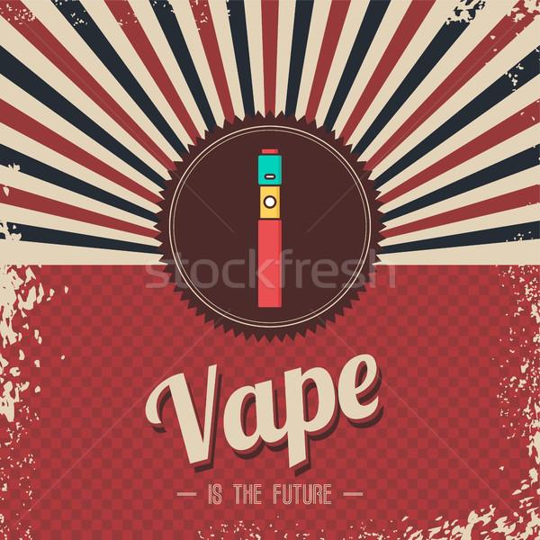 ретро электрических сигарету пар жизни вектора Сток-фото © vector1st