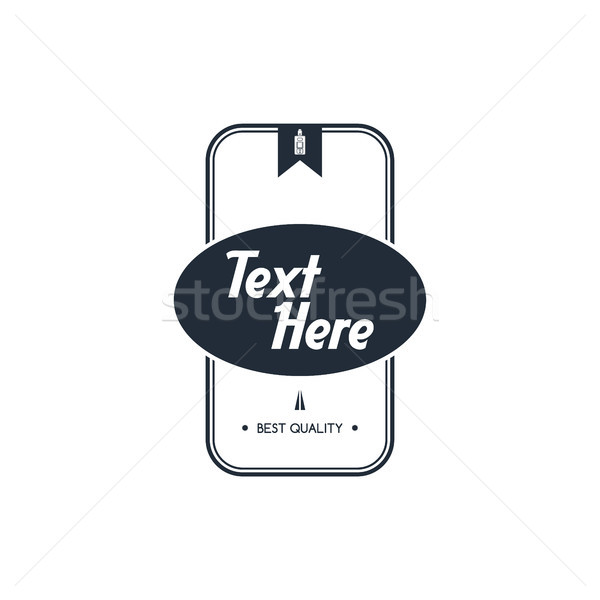 Elektrische sigaret badge label sjabloon vector Stockfoto © vector1st