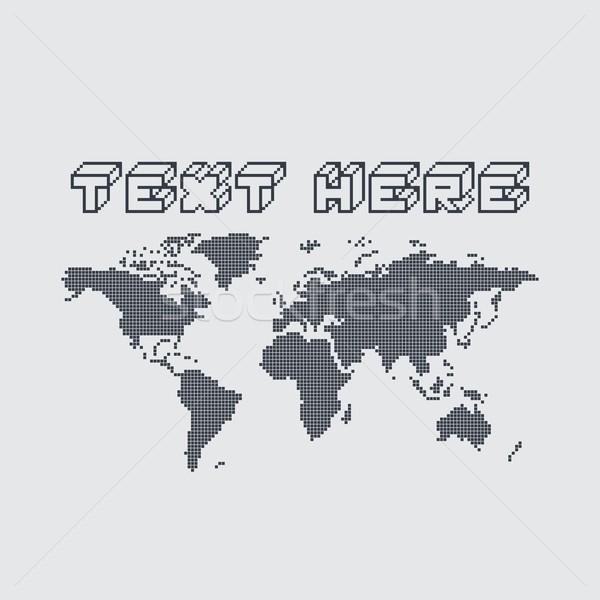 globe map world pixel Stock photo © vector1st