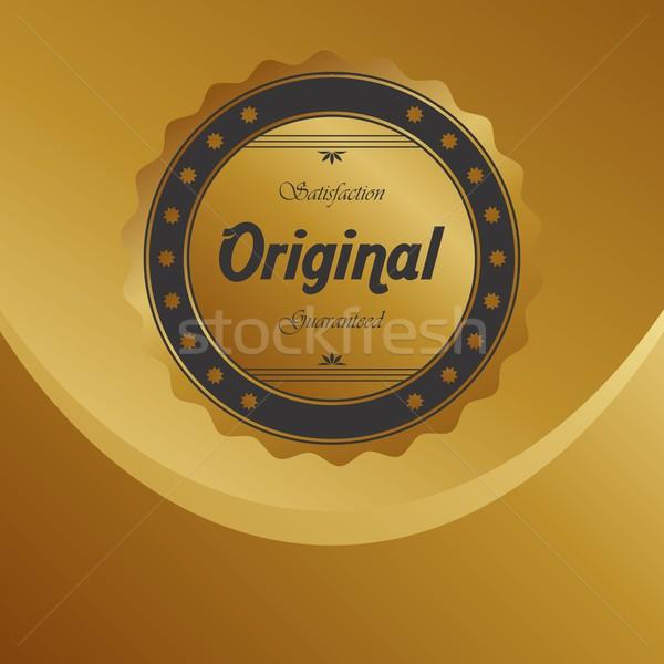 Címke matrica termék vektor művészet illusztráció Stock fotó © vector1st
