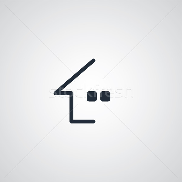 home flat icon Stock photo © vector1st