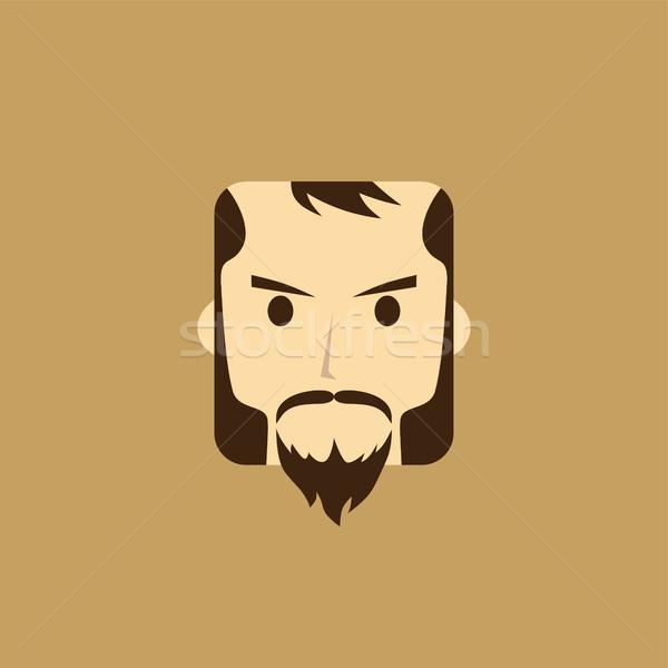 джентльмен Аватара портрет икона вектора искусства Сток-фото © vector1st