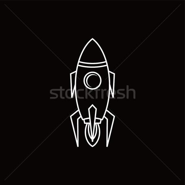 Rocket icon vector Stock photo © vector1st