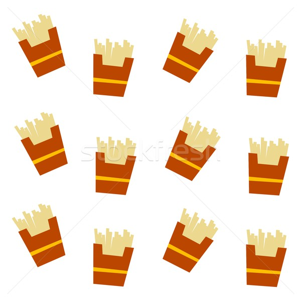 french fries pattern Stock photo © vector1st