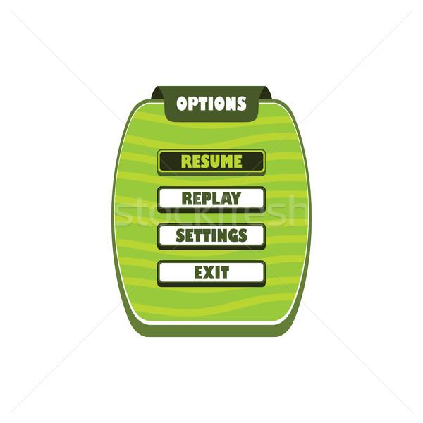 ゲーム メニュー 層 ビデオゲーム アイコン ストックフォト © vector1st
