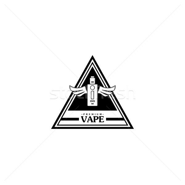 Elektryczne papierosów osobowych retro etykiety odznakę Zdjęcia stock © vector1st