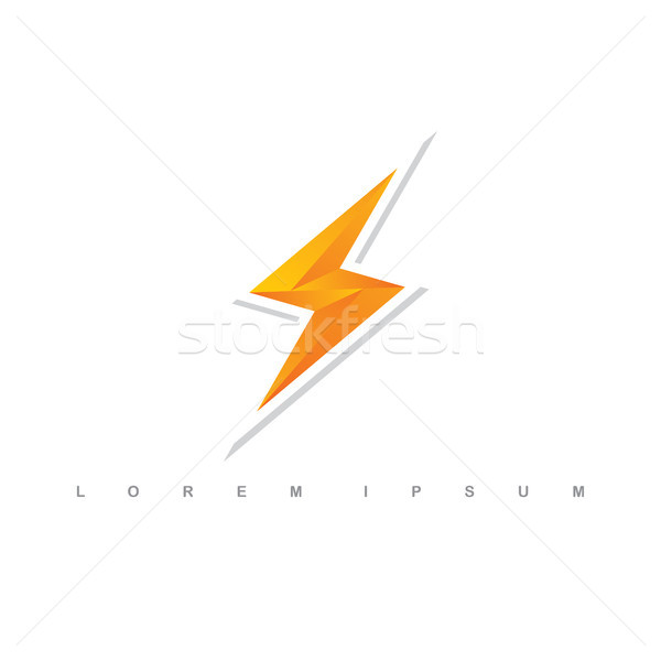 Oranje donder bout teken logo vector Stockfoto © vector1st