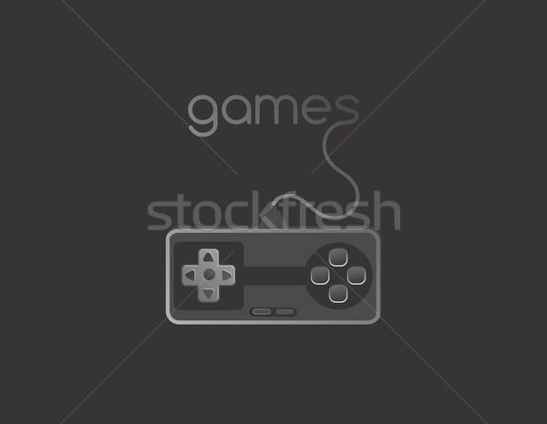 видеоигра утешить вектора графических искусства Сток-фото © vector1st