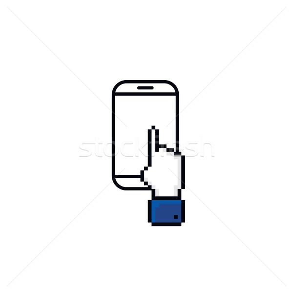 érintőképernyő okostelefon vektor művészet illusztráció számítógép Stock fotó © vector1st