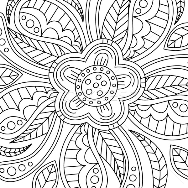 Stock photo: Floral Pattern Hand Drawn Texture with Flowers