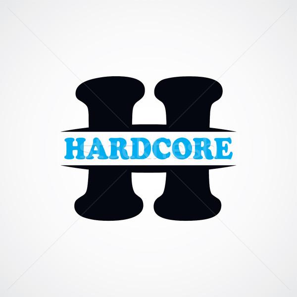 Lettre h logo signe vecteur art Photo stock © vector1st