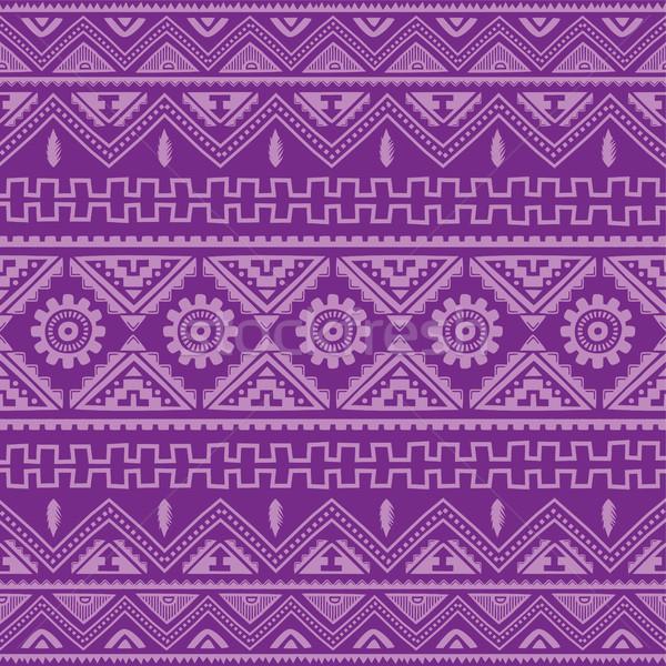 purple native american ethnic pattern Stock photo © vector1st