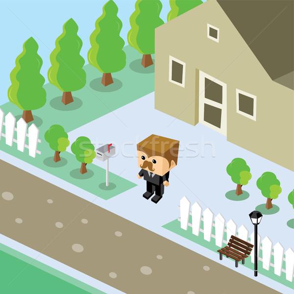 Imprenditore residenziale home isometrica cartoon vettore Foto d'archivio © vector1st