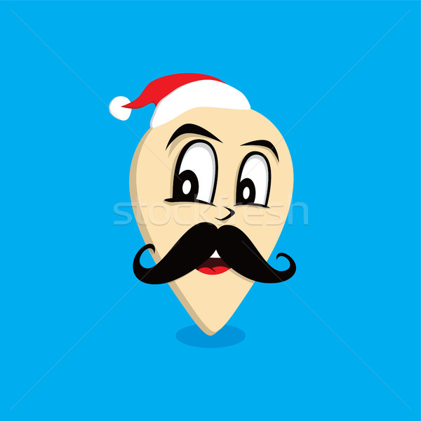 santa claus map pin locator Stock photo © vector1st