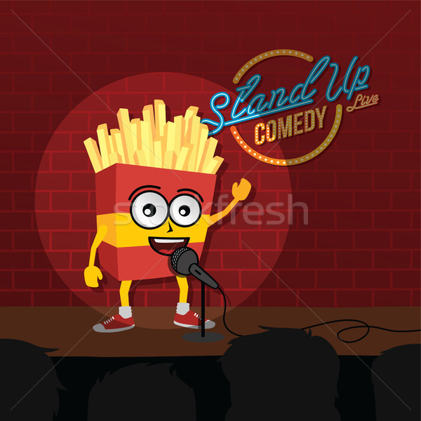 stand up comedy french fries open mic Stock photo © vector1st