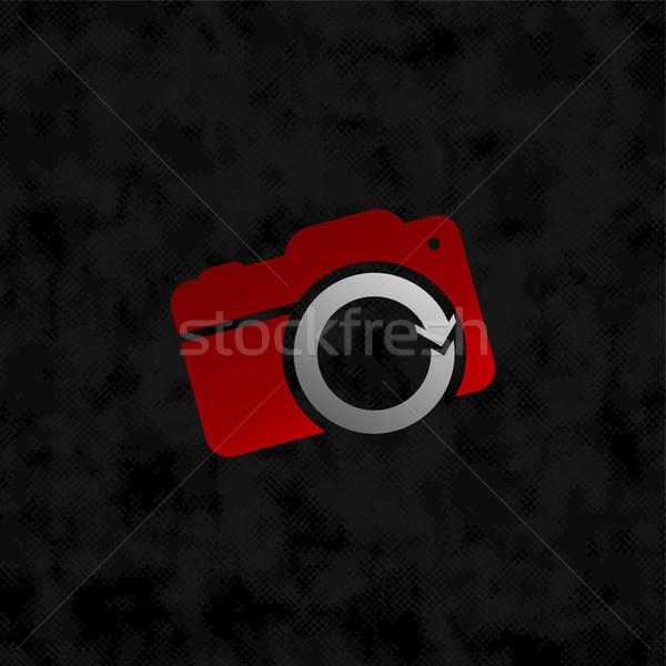 камеры знак символ вектора искусства иллюстрация Сток-фото © vector1st