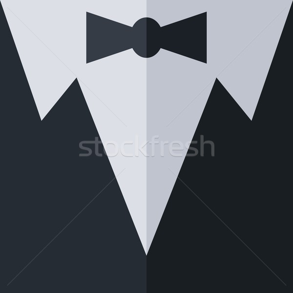 Smoking garderobe vector kunst grafische illustratie Stockfoto © vector1st
