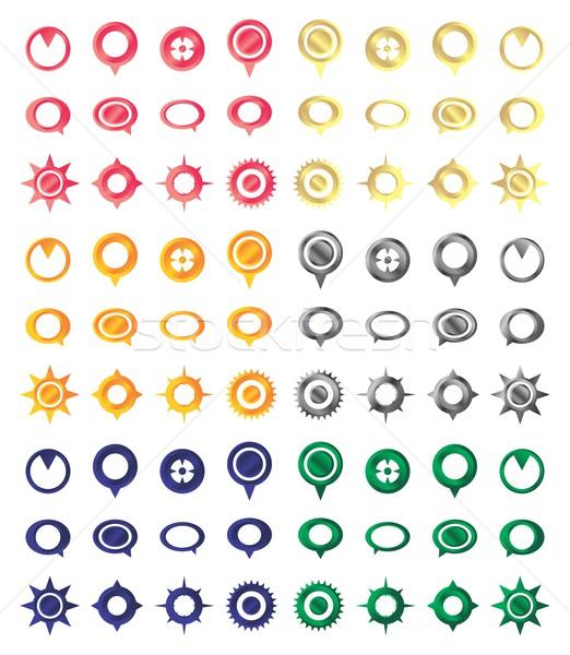 карта икона вектора графических искусства дизайна Сток-фото © vector1st