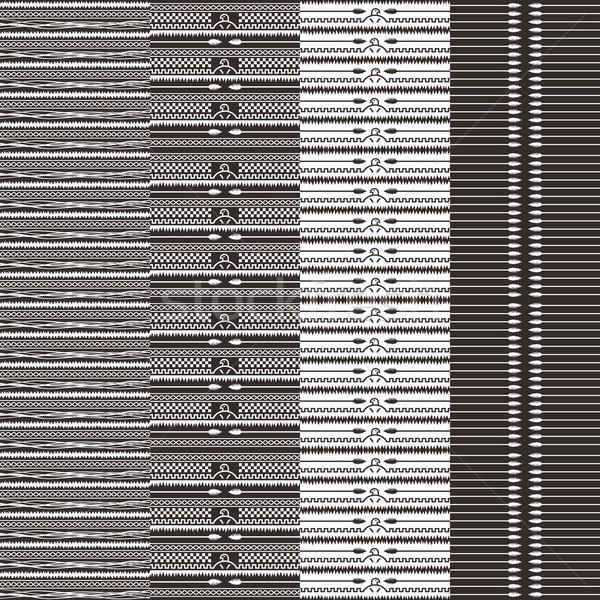 Nativo etnica arte tessuto aquila stampa Foto d'archivio © vector1st