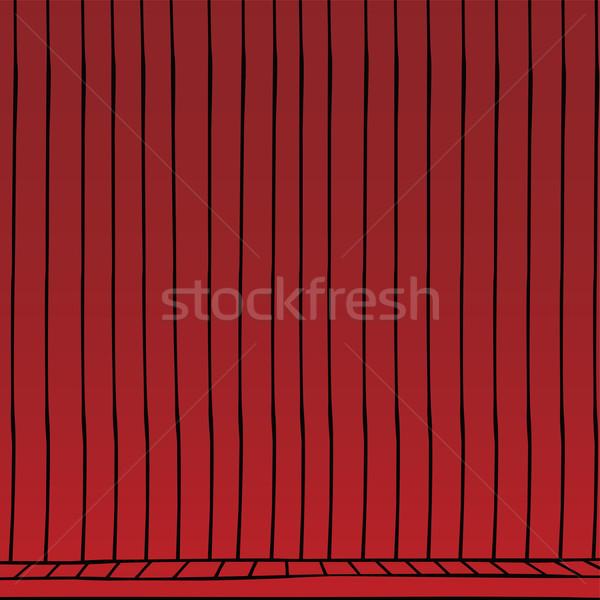 red curtain cartoon Stock photo © vector1st