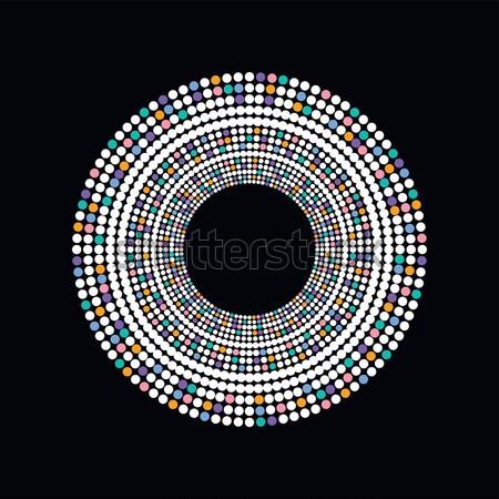 colorful dot theme art Stock photo © vector1st