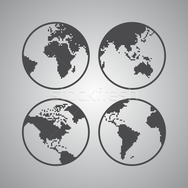 world map theme Stock photo © vector1st