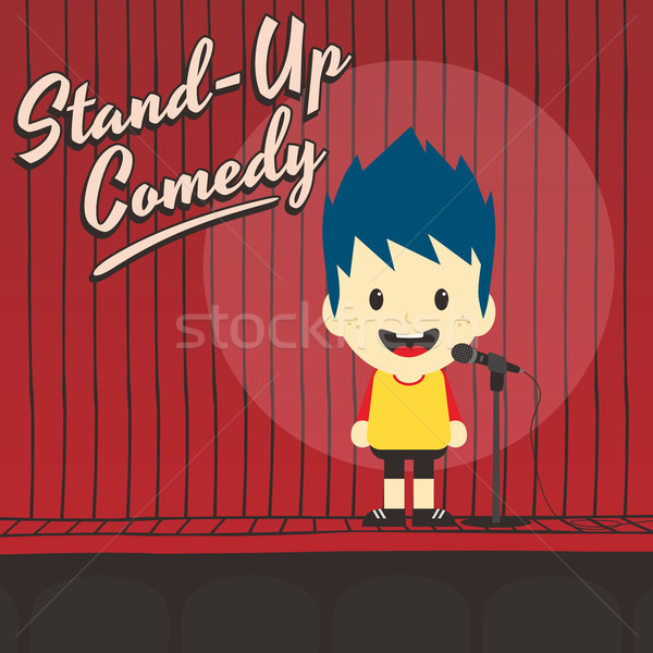Maschio stand up comico musica Foto d'archivio © vector1st
