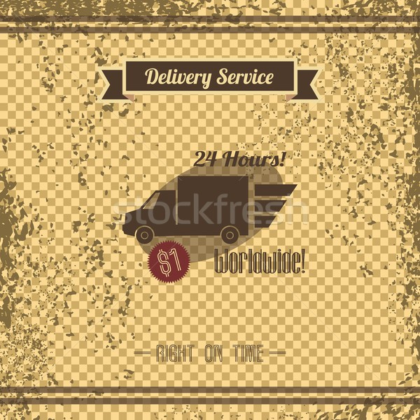 delivery retro page Stock photo © vector1st