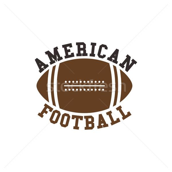 американский футбола вектора графических искусства иллюстрация Сток-фото © vector1st