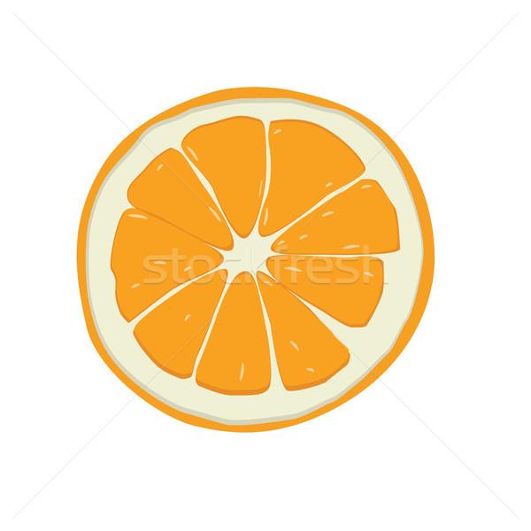 甘い オレンジ果実 ベクトル 芸術 実例 ストックフォト © vector1st