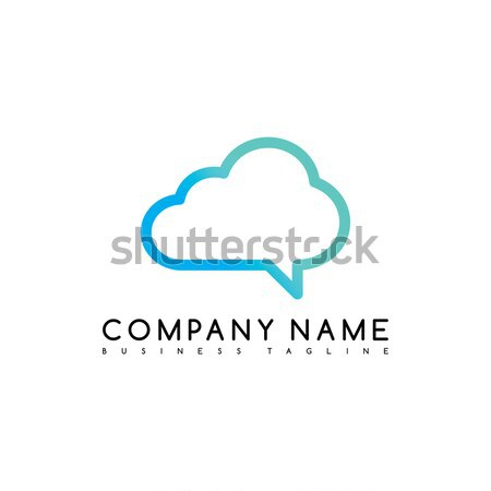cloud chat brand company template logo logotype vector art Stock photo © vector1st
