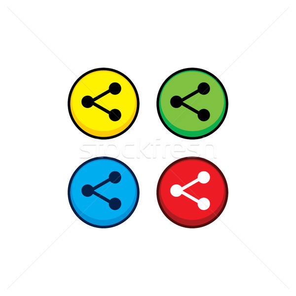 color game asset menu icon button vector Stock photo © vector1st