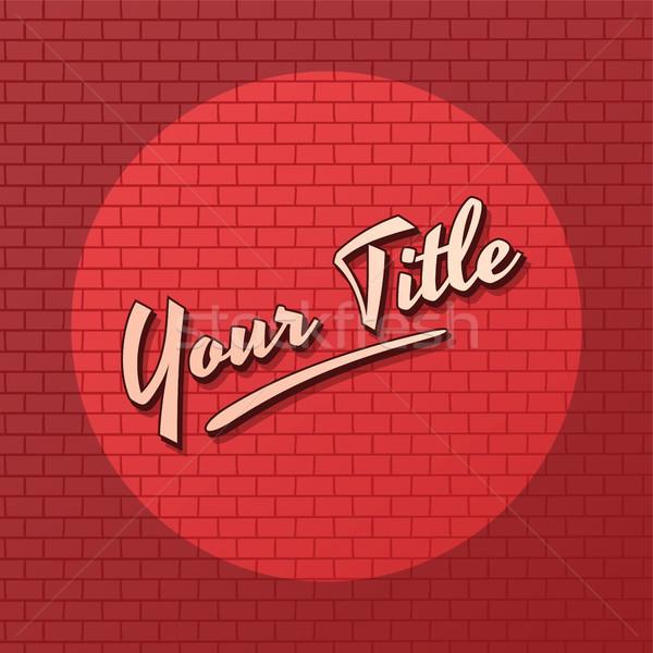 красный кирпичных Spotlight вектора искусства иллюстрация Сток-фото © vector1st
